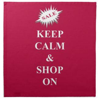 平静を保ち、買物をして下さい ナプキンクロス