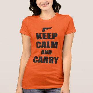 平静を保ち、運んで下さい Tシャツ