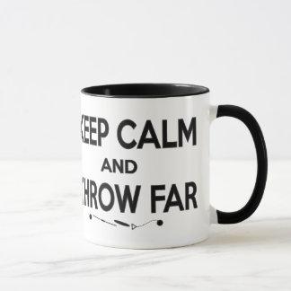 平静を保ち、遠いマグを投げて下さい マグカップ