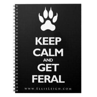 平静を保ち、野生のノートを得て下さい ノートブック