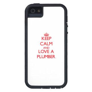 平静を保ち、鉛管工を愛して下さい iPhone SE/5/5s ケース