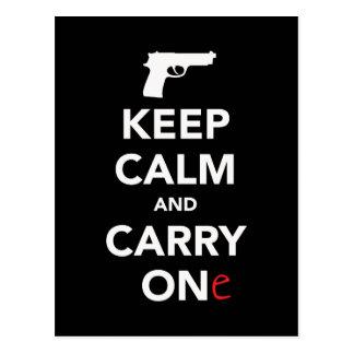 平静を保ち、銃を運んで下さい ポストカード