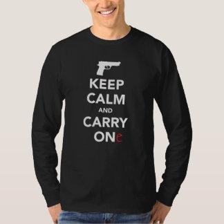 平静を保ち、銃を運んで下さい Tシャツ