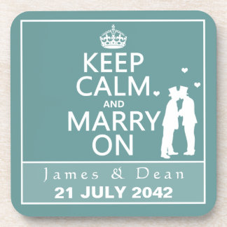 平静を保ち、陽気な結婚式で結婚して下さい コースター