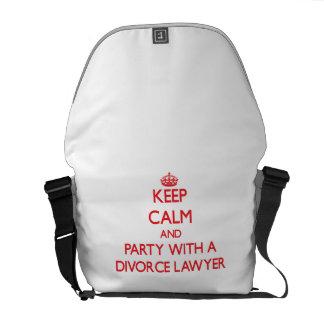 平静を保ち、離婚専門の弁護士とパーティを楽しんで下さい メッセンジャーバッグ