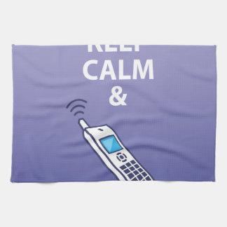 平静を保ち、電話ベクトルを取って下さい キッチンタオル