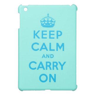 平静を保ち、青い水を続けていって下さい iPad MINIケース