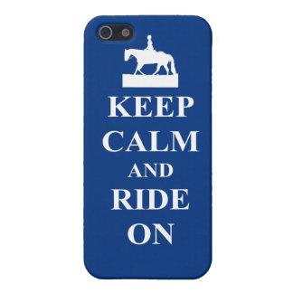 平静を保ち、青で乗って下さい iPhone SE/5/5sケース