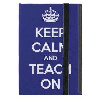 平静を保ち、青で教えて下さい iPad MINI ケース