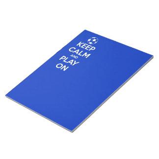 平静を保ち、青で遊んで下さい ノートパッド