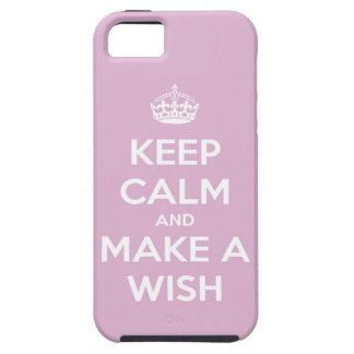 平静を保ち、願いのピンクを作って下さい iPhone SE/5/5s ケース
