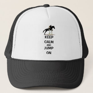平静を保ち、馬で跳んで下さい キャップ