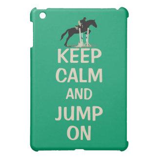 平静を保ち、馬で跳んで下さい iPad MINIカバー