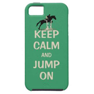 平静を保ち、馬で跳んで下さい iPhone SE/5/5s ケース