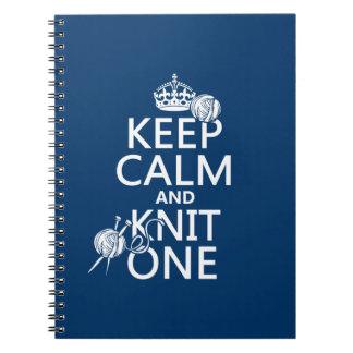 平静を保ち、1つを-すべての色編んで下さい ノートブック