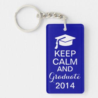 平静を保ち、2014年のKeychainの濃紺を卒業させて下さい キーホルダー