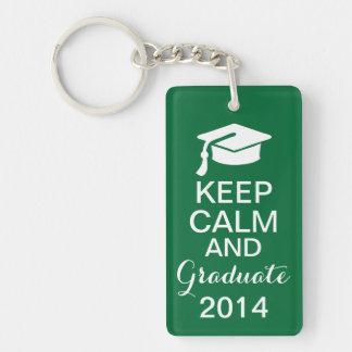 平静を保ち、2014年のKeychainの緑を卒業させて下さい キーホルダー
