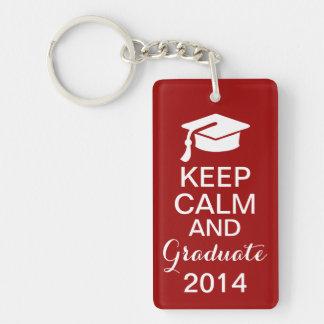 平静を保ち、2014年のKeychainの赤を卒業させて下さい キーホルダー