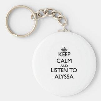 平静を保ち、Alyssaに聞いて下さい キーホルダー