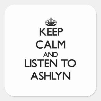 平静を保ち、Ashlynに聞いて下さい スクエアシール