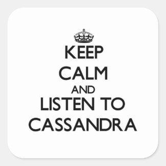 平静を保ち、Cassandraに聞いて下さい スクエアシール