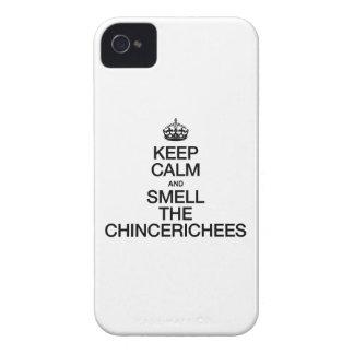平静を保ち、CHINCERICHEESをかいで下さい Case-Mate iPhone 4 ケース