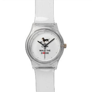 平静を保ち、Doxie -かわいいダックスフント歩かせて下さい 腕時計