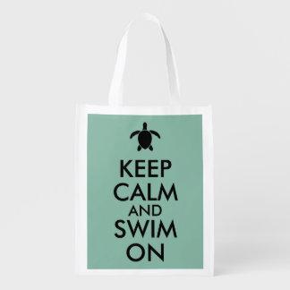 平静を保ち、Honuのウミガメのカスタムで泳いで下さい エコバッグ