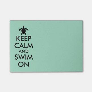 平静を保ち、Honuのウミガメのカスタムで泳いで下さい ポストイット