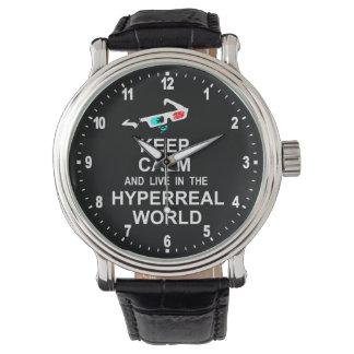 平静を保ち、hyperreal世界に住んで下さい 腕時計