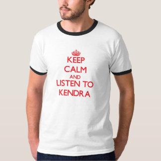 平静を保ち、Kendraに聞いて下さい Tシャツ