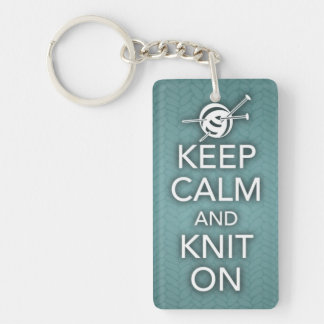 平静を保ち、Keychainで編んで下さい キーホルダー