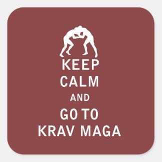 平静を保ち、Krav Magaに行って下さい スクエアシール