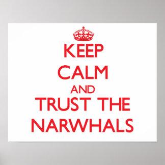 平静を保ち、Narwhalsを信頼して下さい ポスター