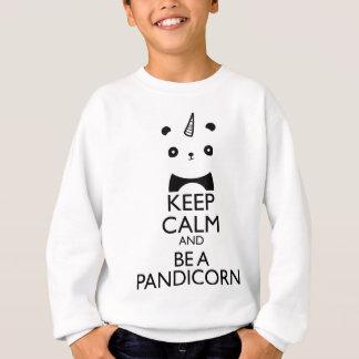 平静を保ち、Pandicornがあって下さい スウェットシャツ