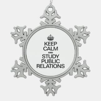平静を保ち、PR活動を調査して下さい スノーフレークピューターオーナメント