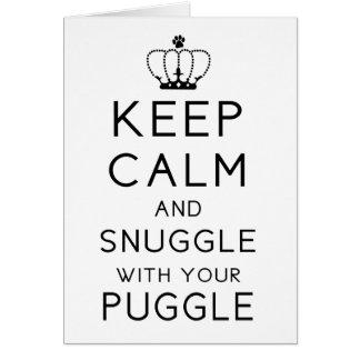 平静を保ち、Puggleあなたのカードと寄添って下さい カード
