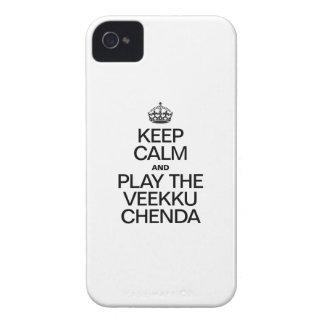 平静を保ち、VEEKU CHENDAを遊んで下さい Case-Mate iPhone 4 ケース