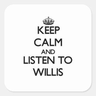 平静を保ち、Willisに聞いて下さい スクエアシール