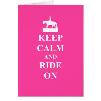 平静を保って下さい及びで乗って下さい(ピンク) カード