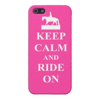 平静を保って下さい及びで乗って下さい(ピンク) iPhone 5 ケース