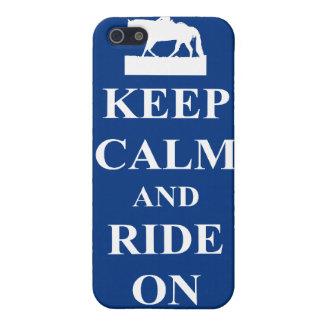 平静を保って下さい及びで乗って下さい(青) iPhone 5 ケース