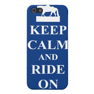 平静を保って下さい及びで乗って下さい(青) iPhone SE/5/5sケース