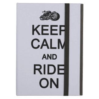 平静を保って下さい及びカスタムな色のケースで乗って下さい iPad AIRケース