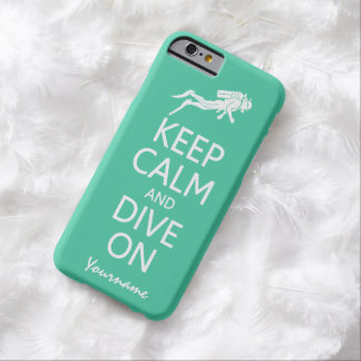 平静を保って下さい及びカスタムな色のケースで潜って下さい BARELY THERE iPhone 6 ケース