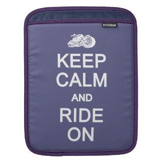 平静を保って下さい及びカスタムな色のiPadの袖で乗って下さい iPadスリーブ