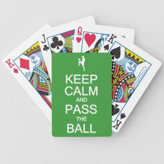 平静を保って下さい及びカードを遊ぶ球を渡して下さい バイスクルトランプ