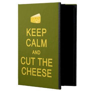 平静を保って下さい及びチーズカスタムの例を切って下さい iPad AIRケース