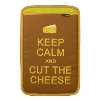平静を保って下さい及びチーズカスタムの袖を切って下さい MacBook スリーブ