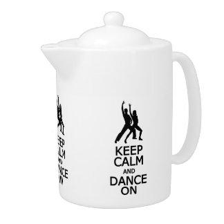 平静を保って下さい及びティーポットで踊って下さい
